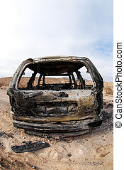 Torched and Abandoned SUV