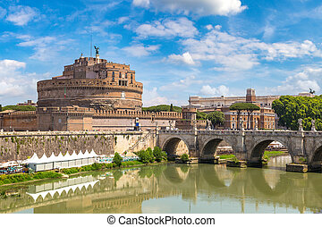 Castel Sant Angelo in Rome - Castel Sant Angelo in a summer...