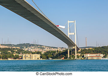 Bosporus bridge in Istanbul - Bosporus bridge connecting...