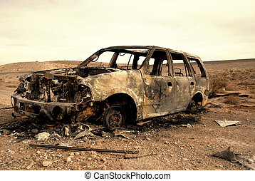 suv,  torched