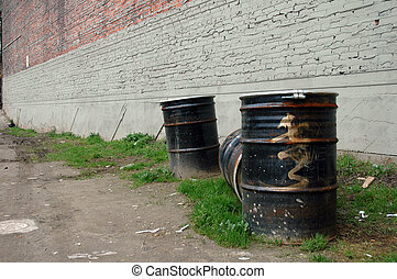 Urban Waste Barrels