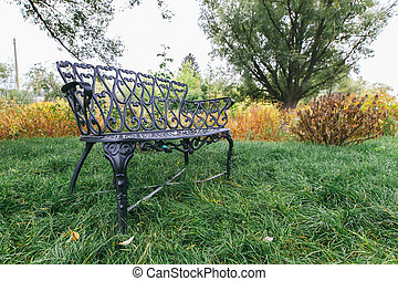 wrought-iron bench