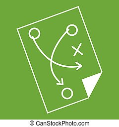 Soccer strategy icon green