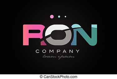 RON r o n three letter logo icon design - RON r o n three 3...