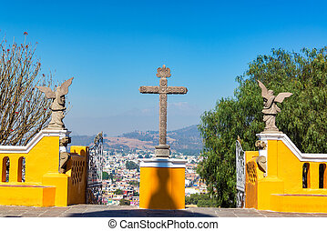 Cross in Cholula, Mexico