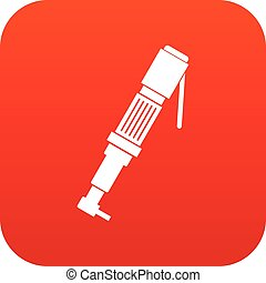 Pneumatic screwdriver icon digital red for any design...