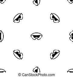 Safety glasses pattern seamless black - Safety glasses...