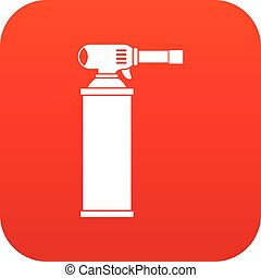 Gas cylinder icon digital red for any design isolated on...