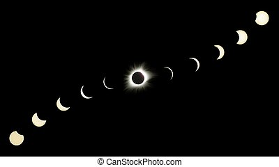 Great American Eclipse Composite Showing All Phases - This...