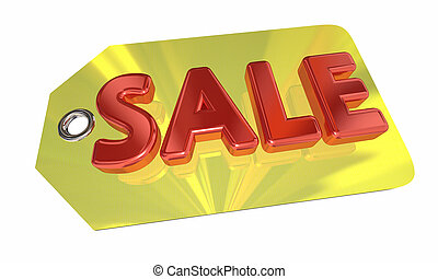 Sale Price Tag Discount Price Offer 3d Illustration