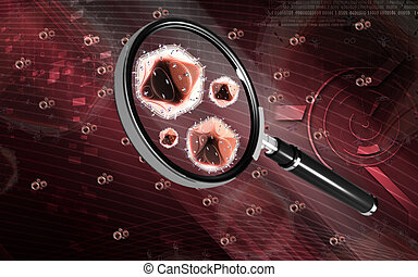 Magnifying glass - Digital illustration of a magnifying...