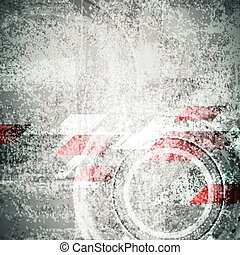 Tech grunge textural abstract geometric background. Vector...