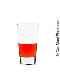 Half full glass of lemonade - Half full glass of red...