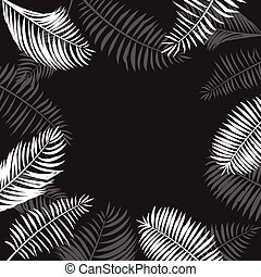 Palm Leaf Border Vector.