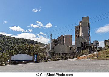 Rural Cement Factory Silos and Towers in South Africa