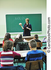 learn biology in school
