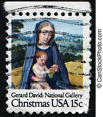 Christmas greeting stamp - UNITED STATES OF AMERICA - CIRCA...