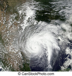Tropical storm Harvey. Elements of this image are furnished...