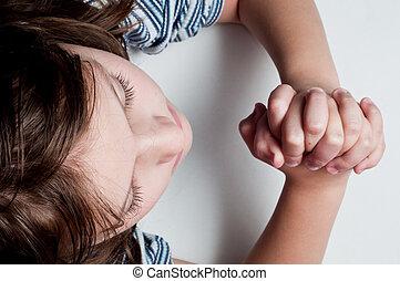 Praying Girl - Photo of a girl praying . Photo taken from...