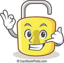 Call me yellow lock character mascot