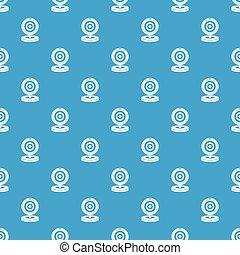 Webcam pattern seamless blue - Webcam pattern repeat...