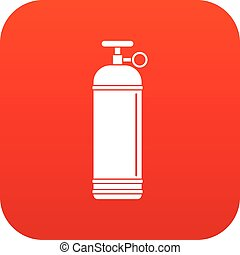 Compressed gas container icon digital red