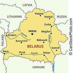 Republic of Belarus - vector map