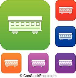 Passenger train car set collection