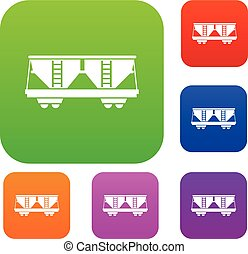 Freight railroad car set collection