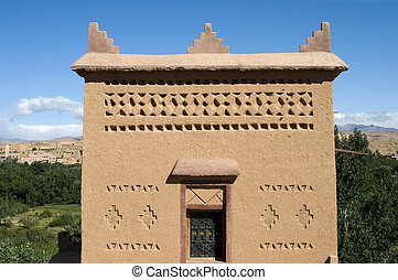 typical Moroccan house - Detail of a typical Moroccan house...