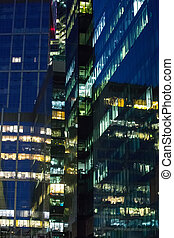 corporate building at night - Modern high corporate building...