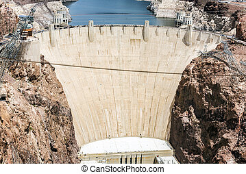 Hoover Dam - Famous Hoover Dam seen from Mike...