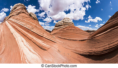 Coyote Buttes - Vivid sandstone formation in Coyote Buttes...