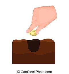 Grain, single icon in cartoon style.Grain, vector symbol...