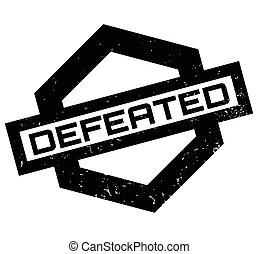 Defeated rubber stamp. Grunge design with dust scratches....