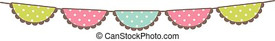Vector Bunting with Polka Dot Pattern