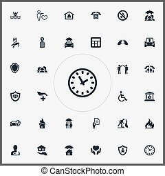 Vector Illustration Set Of Simple Guarantee Icons. Elements...