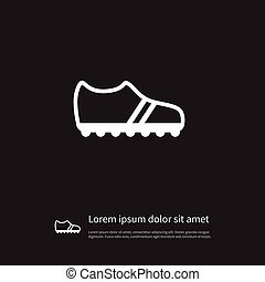 Isolated Gumshoes Icon. Running Vector Element Can Be Used For Sneakers, Gumshoes, Footwear Design Concept.
