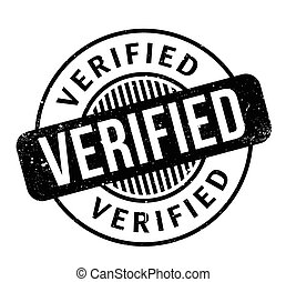 Verified rubber stamp. Grunge design with dust scratches....