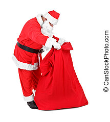 Santa Claus is looking for gifts