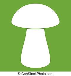 Fungus boletus icon green - Fungus boletus icon white...