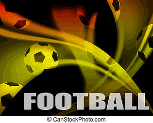Football advertising poster. Vector colored illustration...