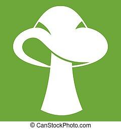 Small mushroom icon green - Small mushroom icon white...