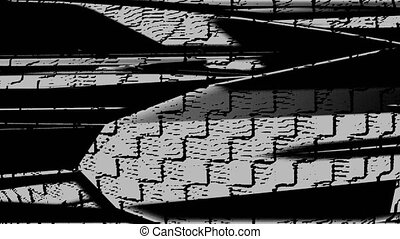 Horizontal Distorted Abstract Lines 16 - Computer generated...