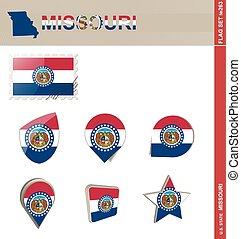 Missouri Flag Set, Flag Set #263