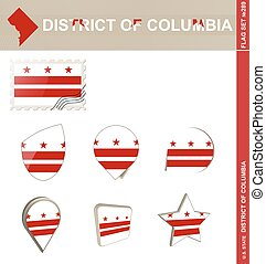 District of Columbia Flag Set, Flag Set #289 - District of...