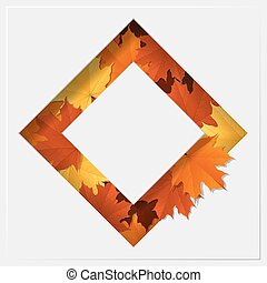 Hello autumn with colorful leaves on geometric paper cut...
