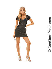 lovely woman in dress - picture of lovely woman in dress...