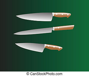 knives color verctor illustration