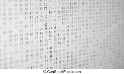 Running encrypted data - Random numbers - static screen...